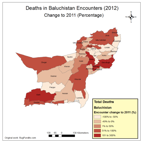 Change in in Deaths due to armed encounters