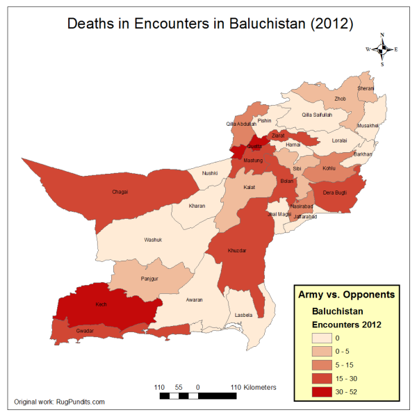 Deaths in Balucistan due to Armed Encounters between Army and Insurgents