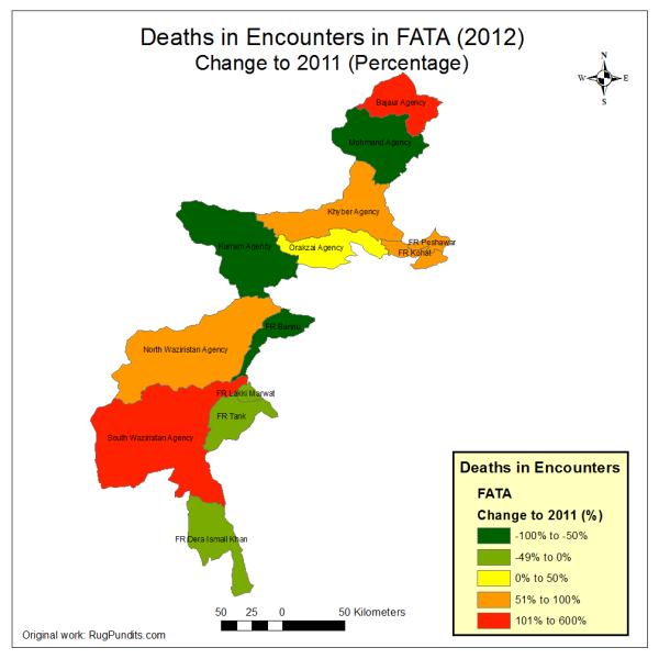 Change in Encounter Fatalities from 2011 to 2012