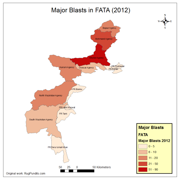 Number of Blasts in all FATA and FR