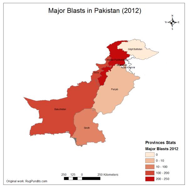 Blasts (Suicide Attacks, Bomb Blasts) in 2012