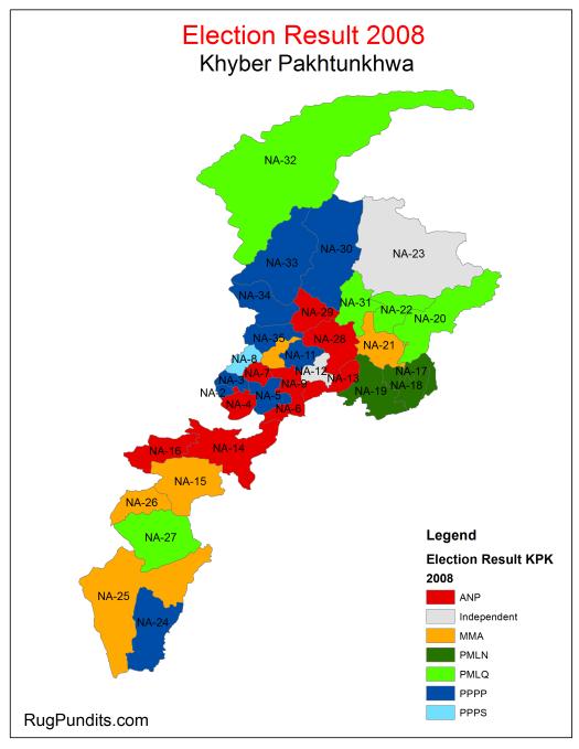 Electoral History KPK - 2008